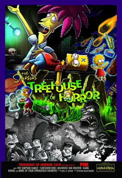 411px-Treehouse_of_Horror_XXVI_promo_poster