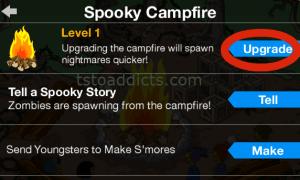 Spooky Campfire Pop Up Upgrade