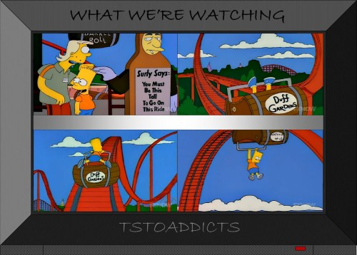 Duff Gardens Barrel Roll Rollercoaster Simpsons