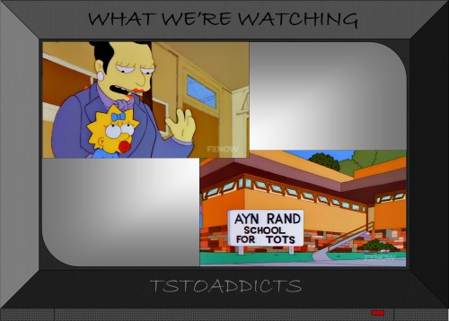 Ms Sinclair & Ayn Rand School for Tots Simpsons