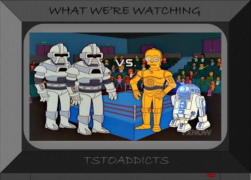 R2D2 C-3PO Battlestar Galactica Robots Droids Simpsons