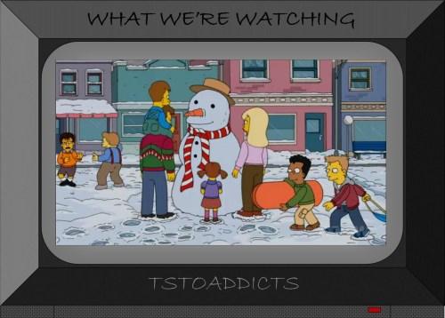 White Christmas Blues Snowman Simpsons