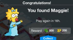You Found Maggie Reward Screen