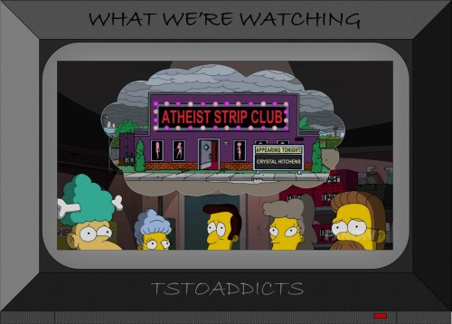 Atheist Strip Club Simpsons