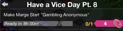 Marge Gambling Anonymous Task TSTO