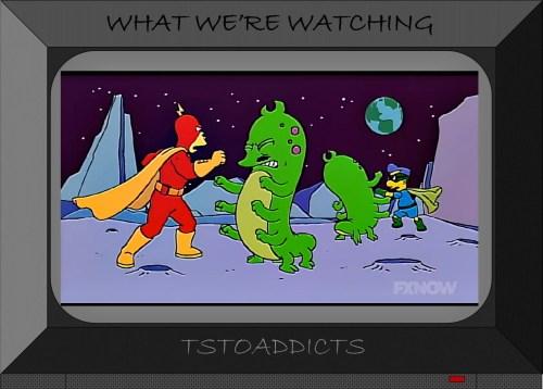 Alien Radioactive Man Fallout Boy Simpsons