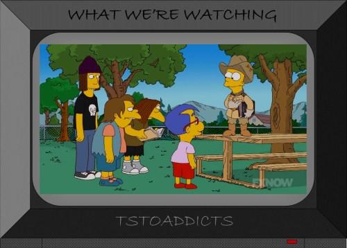 Bart Simpson dressed as Theodore Roosevelt