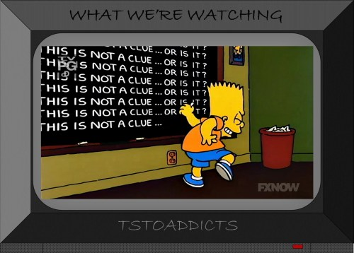 Bart Simpson this is not a clue chalkboard