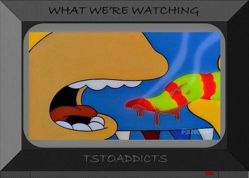 Homer Simpson eats an Guatemalan insanity pepper
