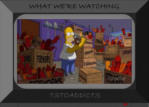 Homer Simpson fireworks