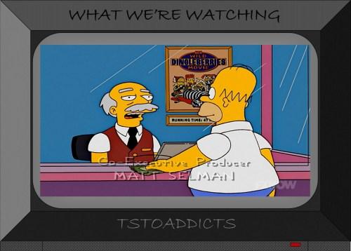 Springfield Googolplex Theatres Raphael Sarcastic Clerk Simpsons