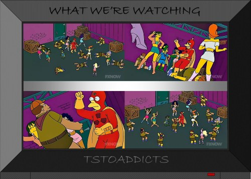 1970s Radioactive Man TV Show Groovy Dance Number Simpsons