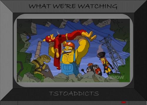 Fossil Fuel Four kill Radioactive Man Simpsons