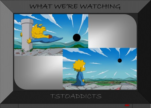 Maggie's pacifier stops black hole Simpsons
