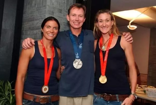 Troy with Misty May and Kerry Walsh