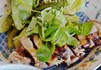 ひね鶏の酒粕漬け、蒸し野菜添え