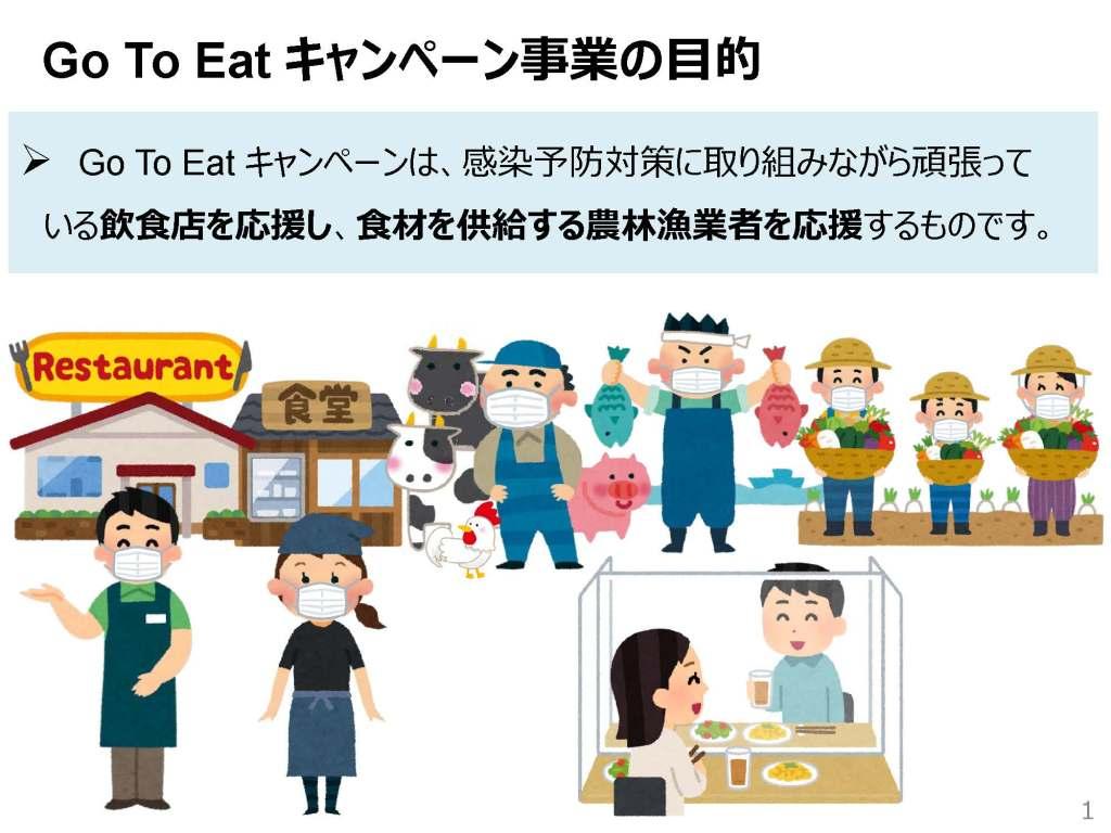 Go To Eat キャンペーン事業の目的