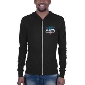Tsunami Unisex zip LIGHTWEIGHT hoodie w/ back logo