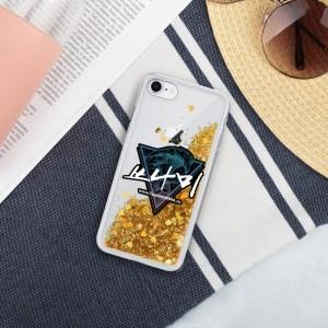 Tsunami Liquid Glitter iPhone Case