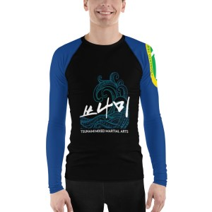 Blue Ranked Rash Guard