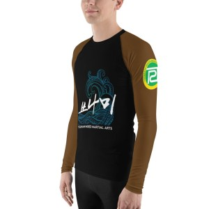 BJJ Men's Rash Guard (brown)