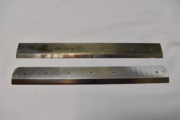 裁断機の刃の新旧比較