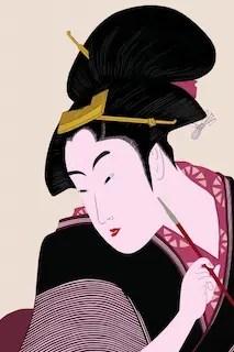 日本美人浮世絵美肌