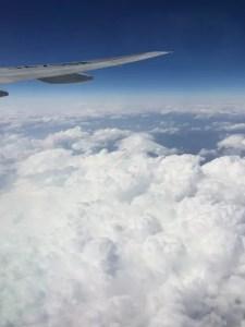 富士山飛行機の窓から