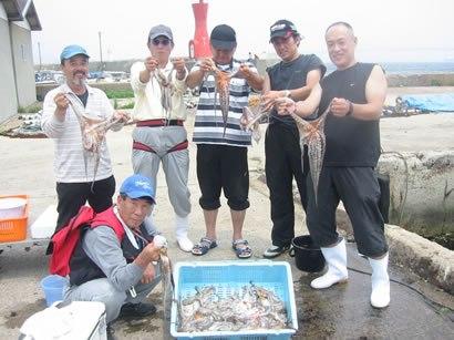 7月8日(日)の釣果(マダコ49杯)