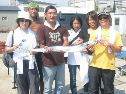 8月19日(日)の釣果(タチウオ・マダコ)