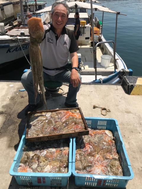 7月22日(土)の釣果(マダコ2.7kg含む船中135杯)
