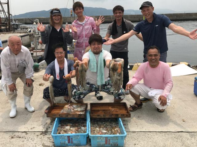 7月23日(日)の釣果(マダコ船中106杯)