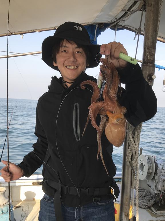 5月27日(日)の釣果(マダコ船中31杯)