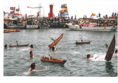 7月第三日曜は岩屋神社の祭り(おしゃたか舟)で遊漁船休みです