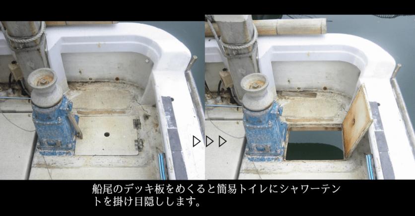 簡易トイレ(電動マリントイレと2箇所使用可能)