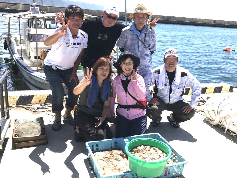 8月8日(木)の釣果(マダコ1.0kg含む船中78杯)