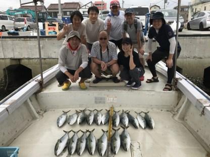 2019-9-1-メジロ船中18匹の釣果