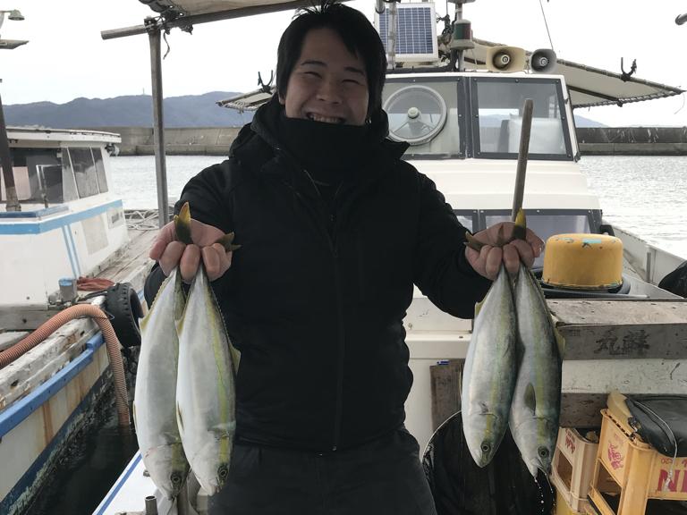 2020-1-25-ハマチ4匹の釣果
