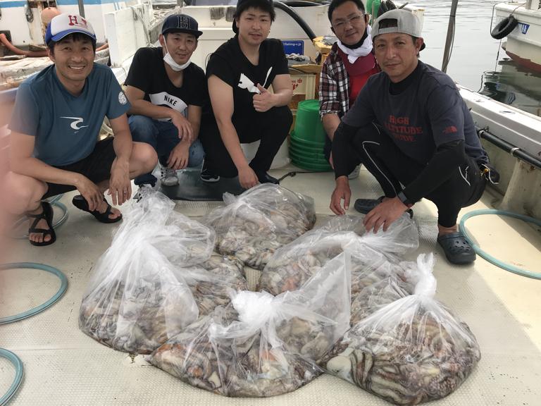 6月5日(金)の釣果(マダコ船中121杯)