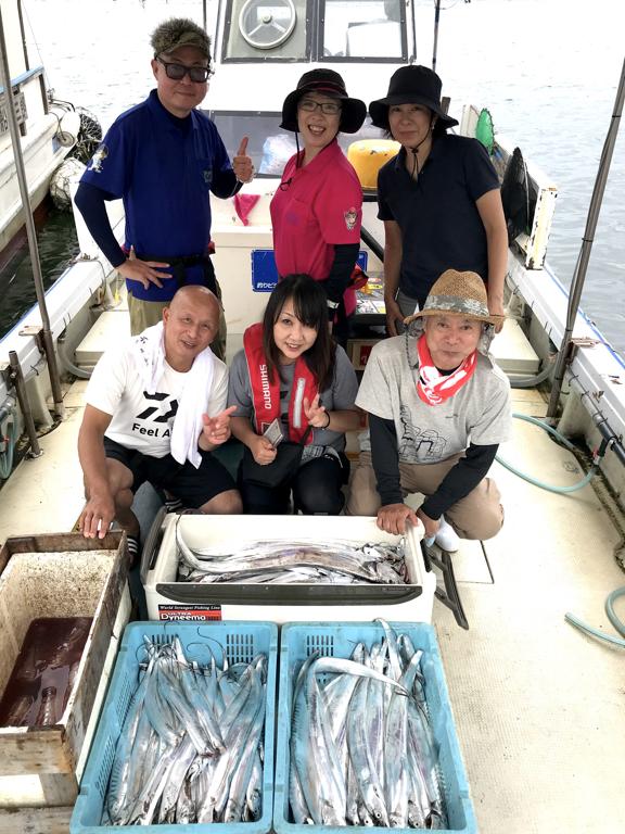 9月11日(金)の釣果(タチウオ船中125匹)