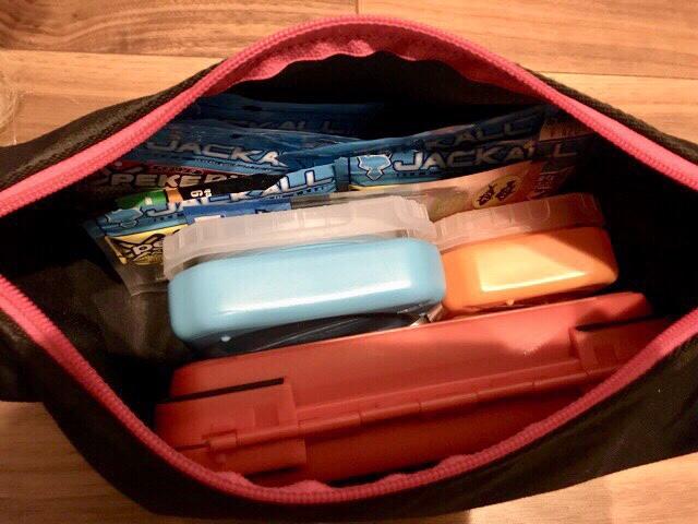 バッグに入ったリキッドパック