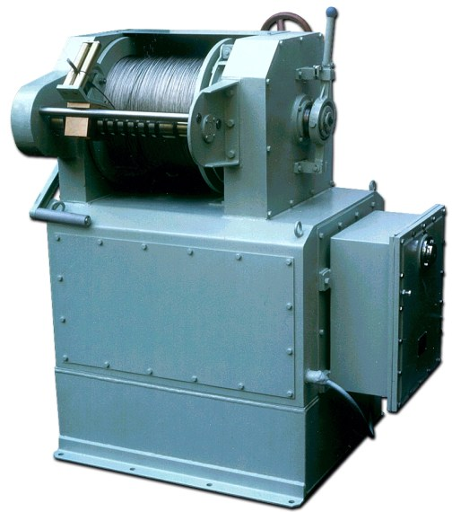 Motorized hydraulic winch