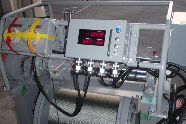 Meter installed on winch