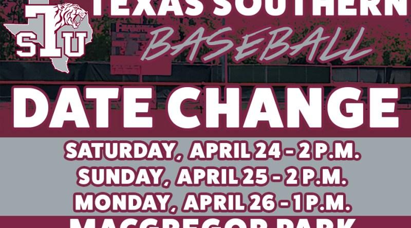 Weekend Baseball Series Against Grambling State Pushed Back