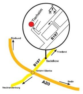 Anfahrt. Karte: C. Barthelt / R. Spiegel