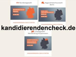 Kandidierenden-Check für die Bundestagswahl 2021 und Landtagswahl M-V