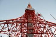 tokyo tower! shot from an open top bus tour
