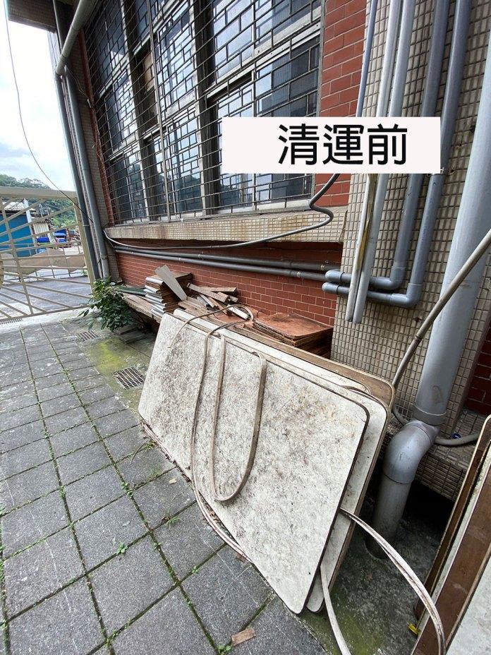 廢棄物清運:工程實績-台北木柵-學校雜物垃圾(清運前)