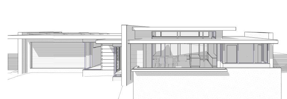 Midcentury modern house render