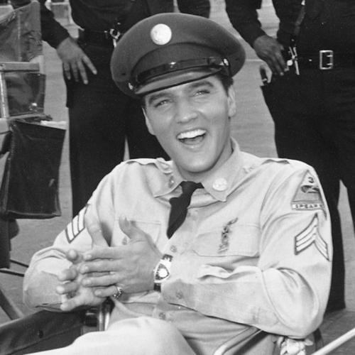 "Elvis Presley wearing his Hamilton Electrics ""Pacer Ventura"""